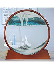 Dynamic Moving Sand Dynamic Sand Picture|Round Glass 3D Natural Landscape Flowing Sand Picture|Great for Someone Who Has Everything (Color : E)