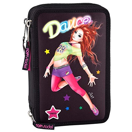 TOPModel 7771?-?Filled Pencil Case Triple, with LED, Dance b