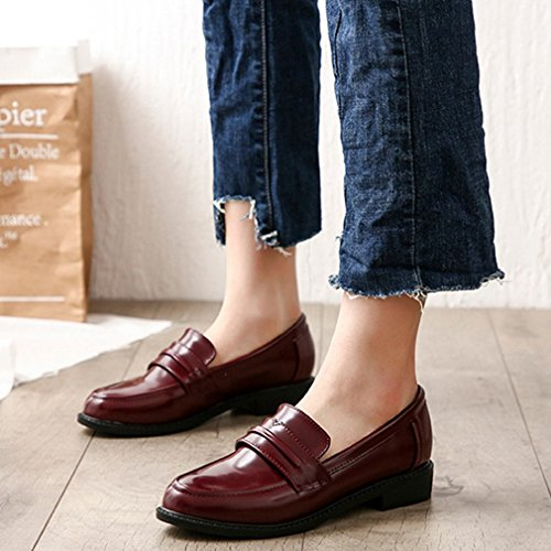 GIY Women's Classic Penny Loafers Slip-On Casual Low Flat Comfort Business Dress Oxford Shoes by GIY (Image #2)