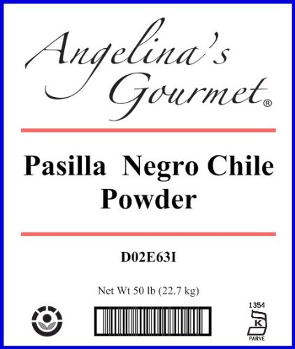 Pasilla Negro Powder - 50 Lb Bag / Box Each by Woodland Ingredients