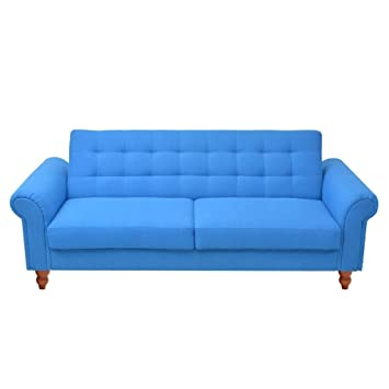Amazon.com: Festnight Modern Convertible Sofa Bed Fabric Upholstery ...
