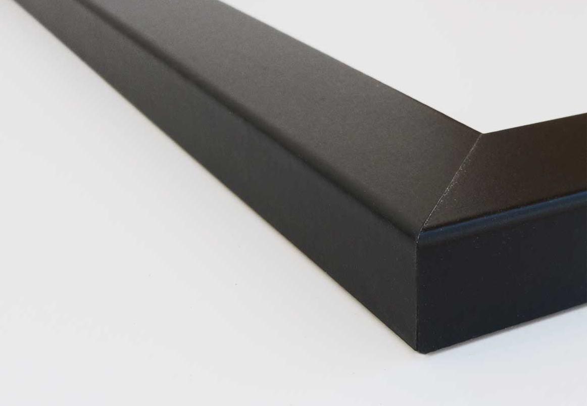 PictureFrameFactoryOutlet 16x16 Picture Frame 1.25 Inch Wide Black Flat Moulding by PictureFrameFactoryOutlet