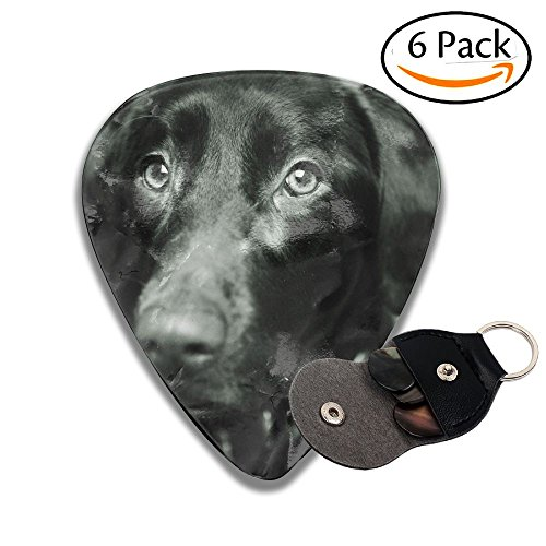 Black Dog Leather Key Chain Pick Holder - 351 Shape Classic Guitar Picks (6 Pack) For Electric Guitar, Acoustic Guitar, Mandolin, And Bass (0.46mm, 0.71mm, 0.96mm) ()