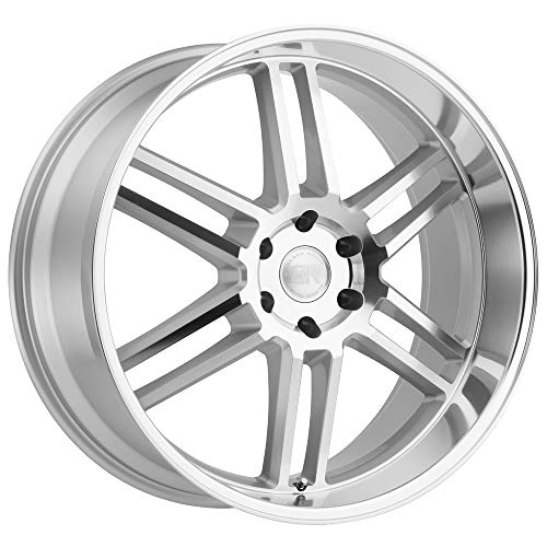 (Black Rhino Katavi Custom Wheel - Silver with Mirror Cut Face and Lip 22