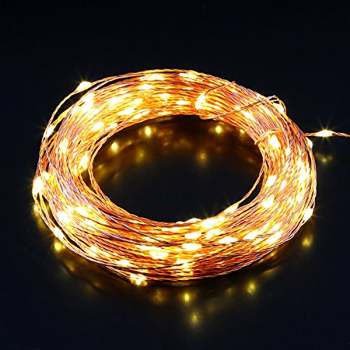 aglaia led string lights 15m 49ft dimmable waterproof copper import it all. Black Bedroom Furniture Sets. Home Design Ideas