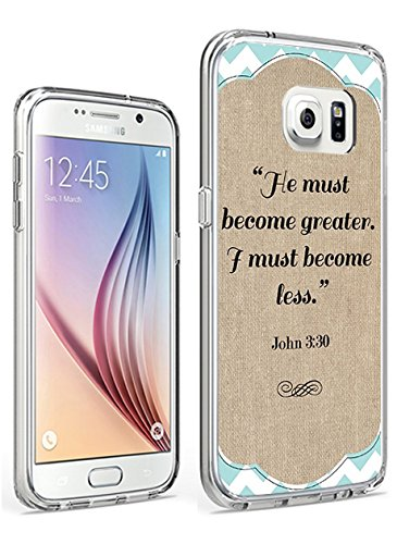 Galaxy S7 Slim Case Protective Cover for Samsung Galaxy S7 He Must Become Greater I must Become Less John ()