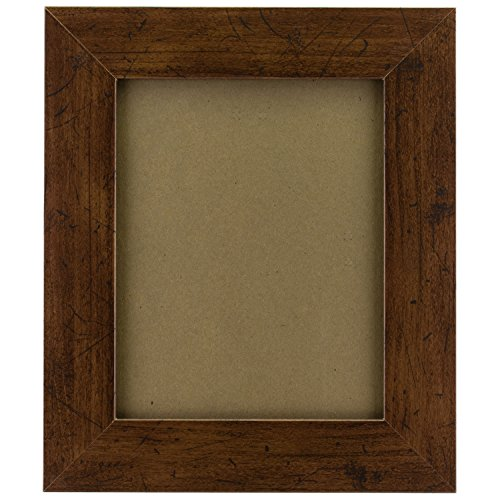 Craig Frames FM74DKW 11 by 14-Inch Rustic Photo Frame, Smooth Grain Finish, 2-Inch Wide, Dark Brown by Craig Frames