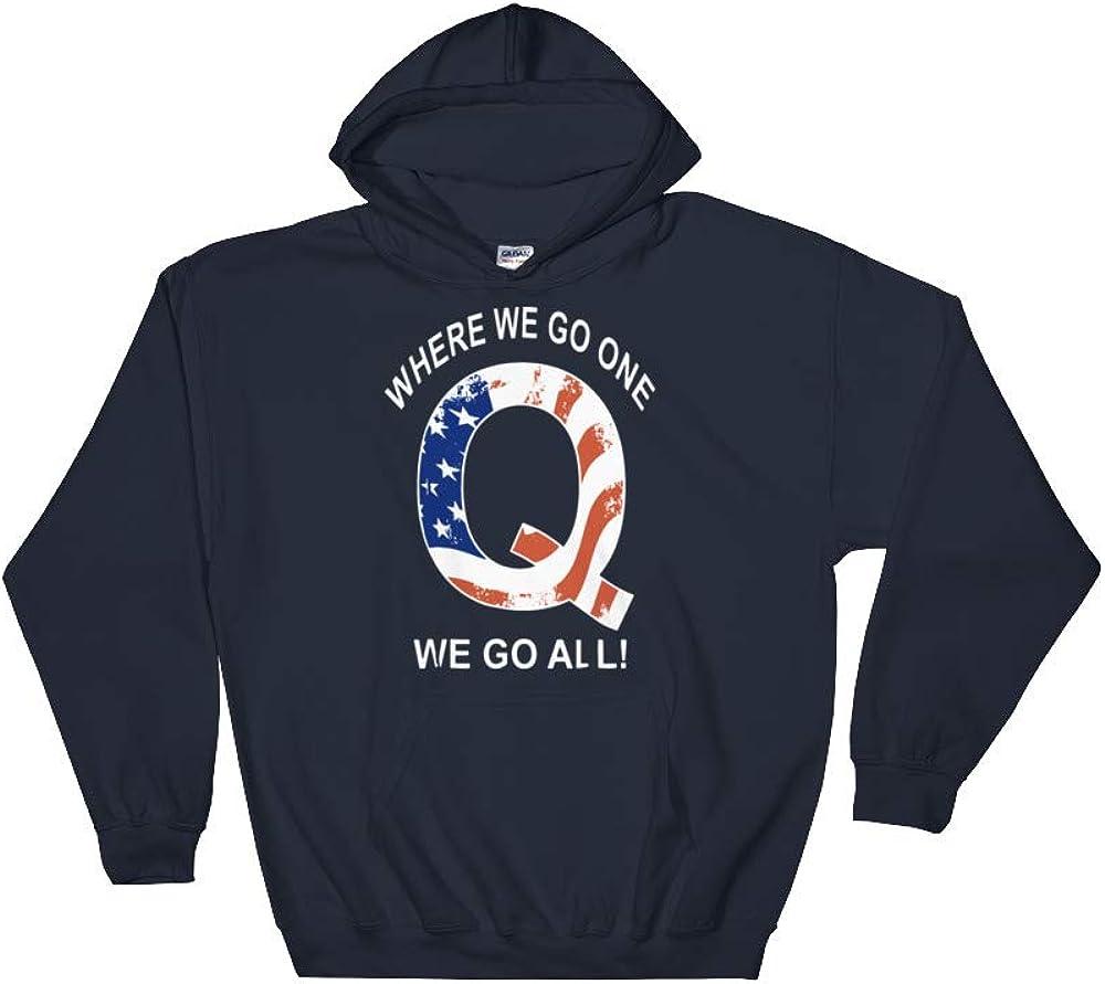 Where We go one We go All America Hooded Sweatshirt