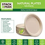 100% Compostable 9 Inch Paper Plates