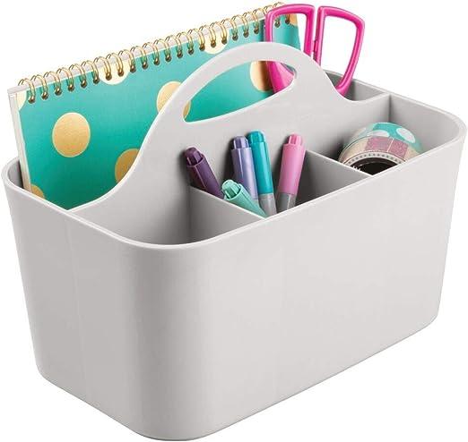 mDesign Organizador de escritorio – Caja organizadora para ...