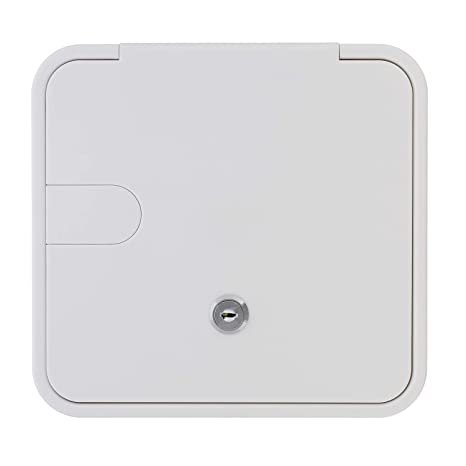 "Amazon.com: Dumble Low Profile Electric Cable Hatch RV Electric Cord – White RV Camper Electric Cord Cover, 8"" x 8.4"" Inch Square: Automotive"