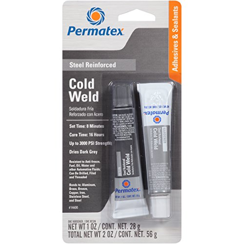 Permatex 14600 Cold Weld Bonding Compound, Two 1 oz. Tubes