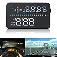 Bangweier écran HD 8,9cm A3de voiture Alarme de vitesse Head Up Display avec OBD2/EU Interface OBD