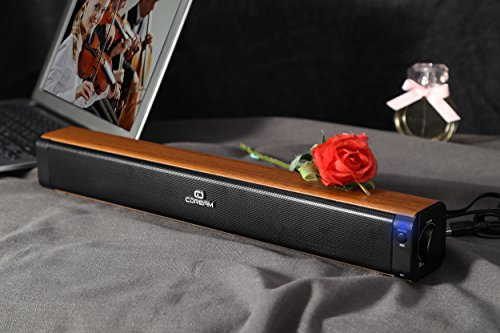 Sound Bar Bluetooth Speaker Soundbar Wired And Wirless 18'' Bluetooth Computer Speaker With Subwoofer Surround Stereo Sound USB Powered For Computer Laptop Desktop Cellphone Tablet Game Echo by CD CDREAM (Image #2)'
