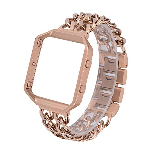 For Fitbit Blaze Band with Frame, WETAL Stainless Steel Chai