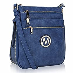 Mkf Crossbody Bags For Women ?�� Adjustable Strap ?�� Vegan Leather ?�� Crossover Side Messenger Womens Purse Royal Blue