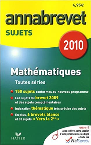 Lire Mathématiques : Annabrevet Sujets 2010 epub, pdf