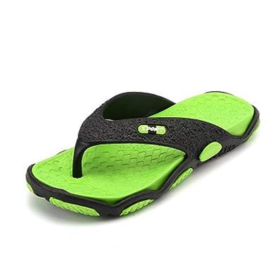 ea9668469 Summer Fashion Men s flip Flops Beach Sandals for Men Flat Slippers Non-Slip  Shoes(