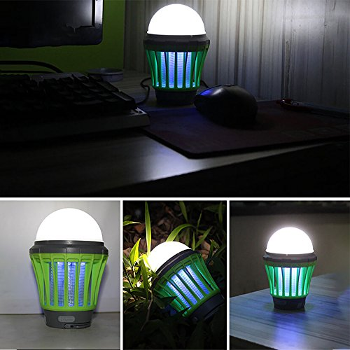 Pangxiannv UV Solar LED Electric Fly Insect Bug Pest Mosquito Trap Zapper Killer Night Lamp Propane Mosquito Trap Electric Mosquito Killer Outdoor Bug Zapper Mosquito Light Bug Zapper Light