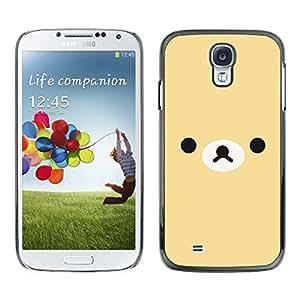 TopCaseStore / la caja del caucho duro de la cubierta de protección de la piel - Cute Cartoon Minimalist Sad Beige - Samsung Galaxy S4 I9500