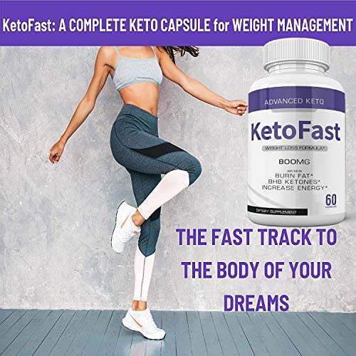 (5-Pack) Keto Fast Diet Pills Advanced Ketogenic Keto Fast Burn Ultra Weight Management Capsules 700mg Pure Keto Fast Supplement for Energy - BHB Boost Exogenous Ketones for Rapid Ketosis Men Women 2
