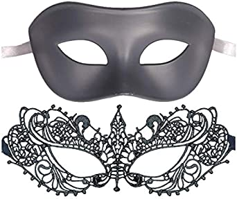 Luxury Mask New Fifty Shades Darker Mask Set Black and Silver