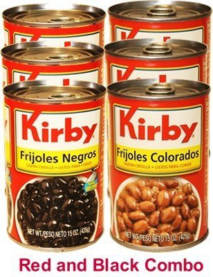 Kirby Cuban Style Red and Black Beans Combo Pack. 6 cans, 15 oz each by Kirby