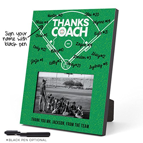 ChalkTalkSPORTS Personalized Baseball Photo Frame | Coach (Autograph) Picture Frame | Field