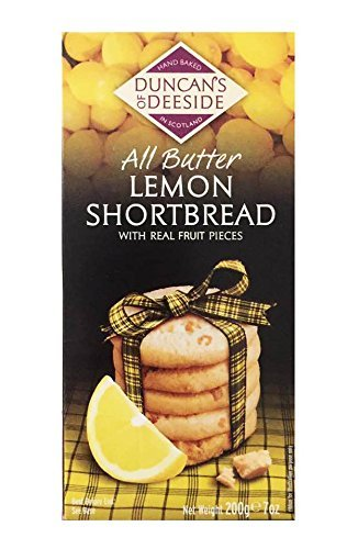 Scotland Hand Baked Butter Shortbread Cookie Box 7oz (Lemon)