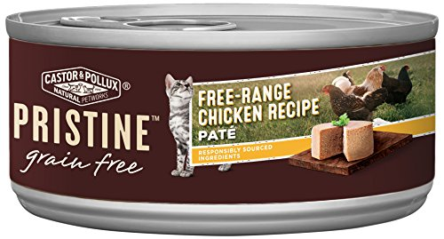 Castor & Pollux Pristine Free-Range Chicken Recipe Wet Cat Food 5.5 Oz, 24 Count Case -