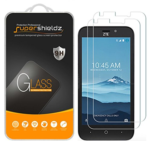 (2 Pack) Supershieldz for ZTE (Prestige 2) Tempered Glass Screen Protector,  Anti Scratch, Bubble Free