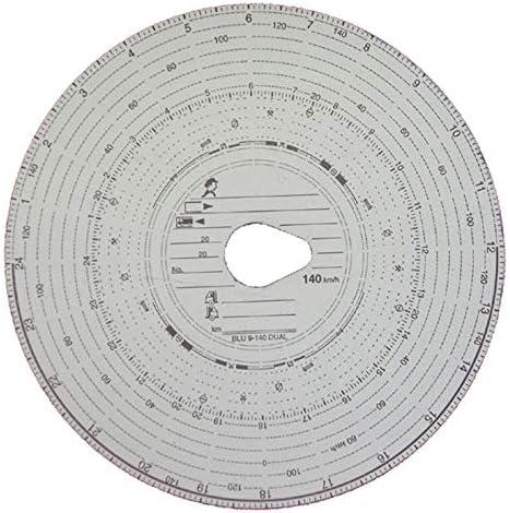 10 Packungen Tachoscheiben Diagrammscheiben bis 140 km/h Tachoblatt Kontrollscheiben 140-24 Fahrtenschreiberscheiben Tachographen