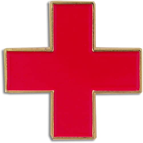 "3//4/"" US Army Mini Medic Emblem Pin Silver"
