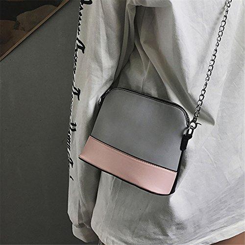 Frauen PU Leder Schulter Taschen, Dxlta Patchwork-Farbe Handtasche