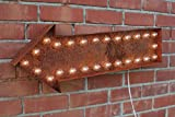 Lighted Marquee Arrow Sign