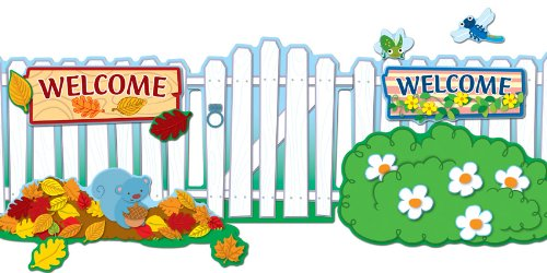 - Carson Dellosa Seasonal Fence Bulletin Board Set (110212)