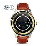 MOREFINE Bluetooth Smart Watch Outdoor Sport Bracelet Waterproof Wristband Fitness Activity Tracker with Sleep Heart Rate Monitor Pedometer Step Record Sedentary Reminder for Android IOS Health Gift