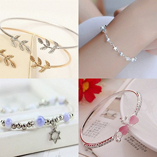 5a82df2a448a Amazon.com   2018 Ja and South Korea personality simple student fresh Sen  Deparent of girlfriends jewelry wild hand ring bracelet female bracelet S14    ...