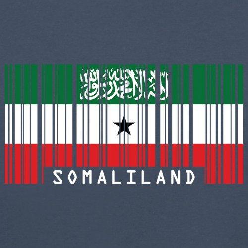 Somaliland / Republik Somaliland Barcode Flagge - Herren T-Shirt - Navy - XS