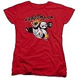 Kung Fu Panda Kaboom Of Doom Womens Short Sleeve Shirt