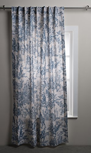 Maison d' Hermine The Miller 100% Cotton Toile Denim Curtain 50 Inch by 96 -