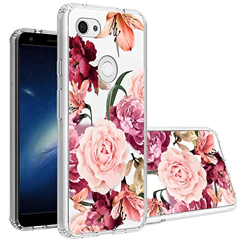 Google Pixel 3a XL Case, Topnow Clear Design Plastic Hard Back Case with TPU Bumper Protective Case Cover for Google Pixel 3a XL - Roses Cluster