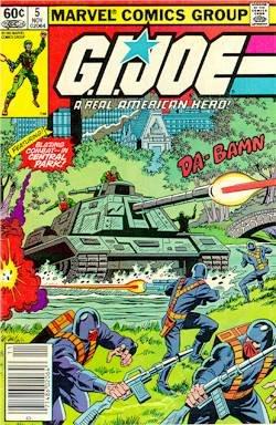 GI JOE #5 marvel comics 1982 1st print g.i.