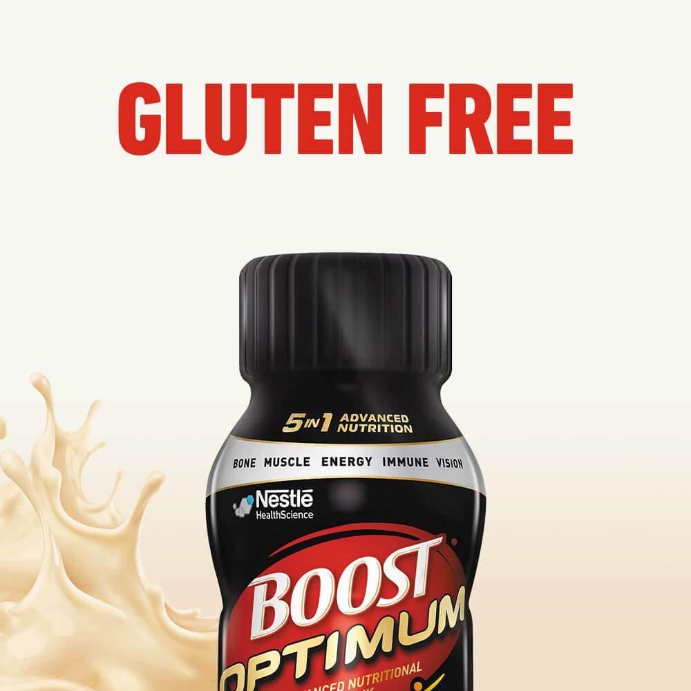Boost Optimum Advanced Nutritional Drink, Creamy Vanilla, 8 fl oz bottle, 16 Pack (Packaging May Vary) by Boost Nutritional Drinks
