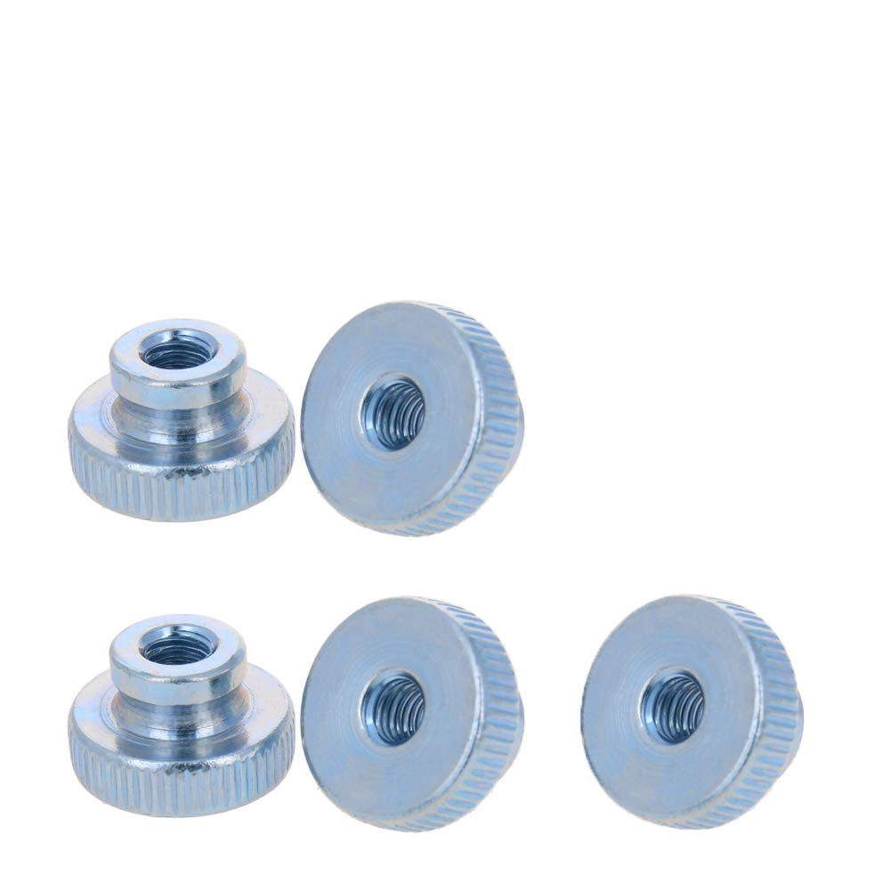 MroMax 5PCS Thumb Nut M6 Thread Round Knobs Zinc Plating Commonly Use for 3D Printers Parts