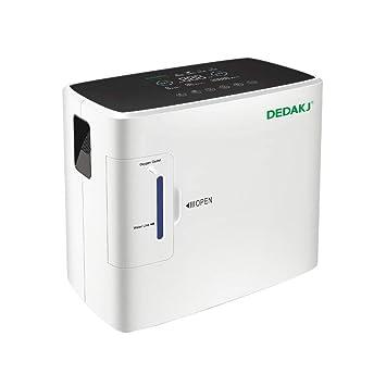 HUKOER generador de concentrador de oxígeno portátil 1-6 l/min máquina de oxígeno home purificador de aire 90% de alta pureza para el hogar: Amazon.es: ...