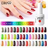 (US) Elite99 Pick Any 10 Colors Soak Off Gel Nail Polish UV LED Color Nail Art Gift Set