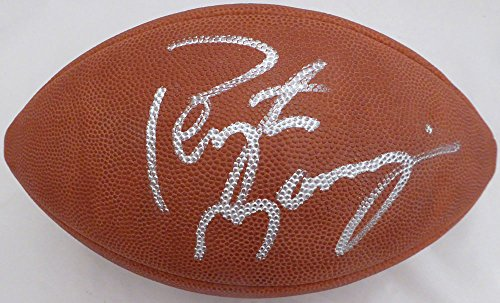Peyton Manning Hand Signed - Peyton Manning Autographed Wilson NFL Leather Football Broncos, Colts Beckett BAS #E95611