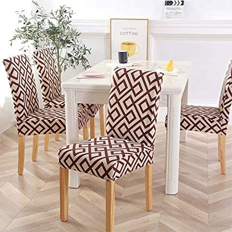 Awesome Amazon Com Yizitao Elastic Dining Chair Covers Fur Pattern Andrewgaddart Wooden Chair Designs For Living Room Andrewgaddartcom