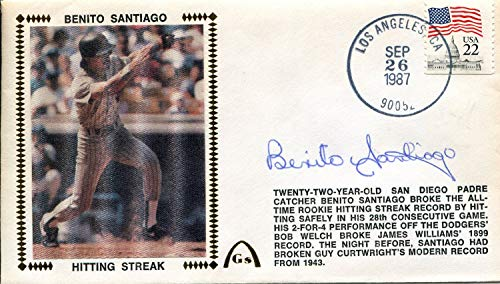 - Benito Santiago Autographed First Day Cover